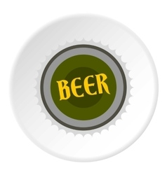 Cover beer icon flat style vector