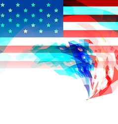 Creative 4th of july america background vector