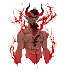Devil demons portrait vector