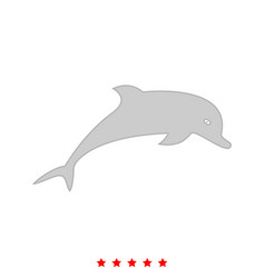 dolphin it is icon vector image