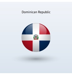 Dominican republic round flag vector