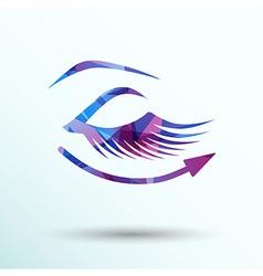 eyelashes eye icon clip isolated human soft vector image