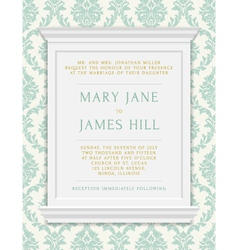 Invitation to the wedding or announcements vector image vector image
