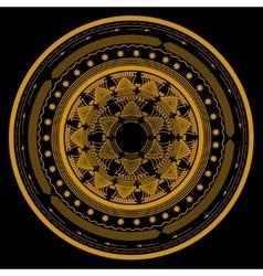 Mandala symbol in a circle consisting of several vector