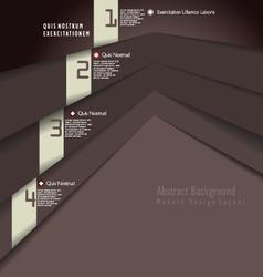 Modern brown design template vector image vector image