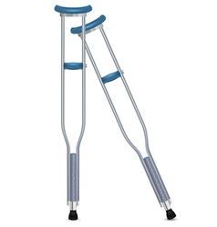 Pair of orthopedic crutches vector