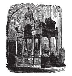 Queen elizabeths tomb vintage vector