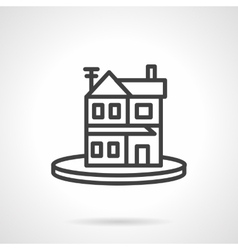 Rent of property simple line icon Housing vector image vector image