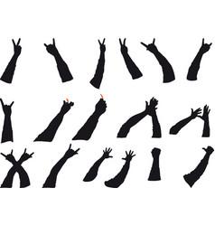 rock gestures vector image vector image