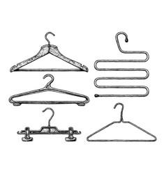 set of coat hanger vector image vector image