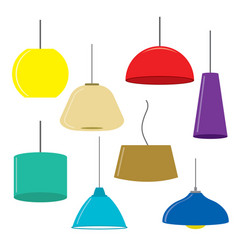 set of lamps furniture ceiling lamps vector image