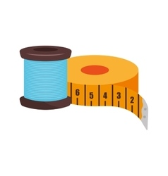 Spool of blue thread vector