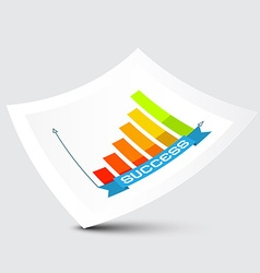 Success graph on paper vector