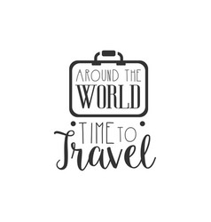 typographic logo with vintage suitcase vector image