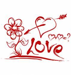 Valentines day symbols vector