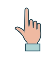 Human hand with finger pointing vector