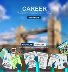 Career in business concept with doodle design vector
