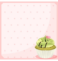 An empty stationery with a mocha cupcake vector image