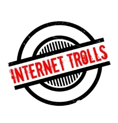 Internet trolls rubber stamp vector