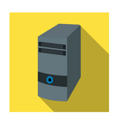 Computer case icon in flat style isolated on white vector