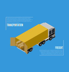 Transportation freight concept with cargo car vector