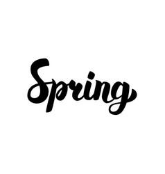 Spring handwritten calligraphy vector