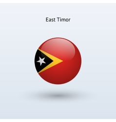 East timor round flag vector
