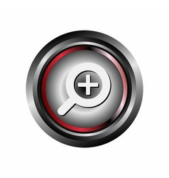 Zoom icon button vector
