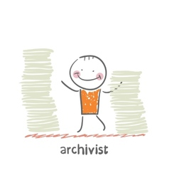 archivist vector image