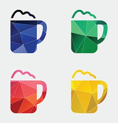 Cappuccino icon abstract triangle vector