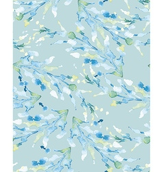 Abstract background watercolor blue branch vector