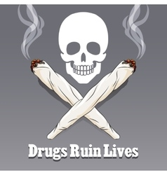 Anti drug poster vector