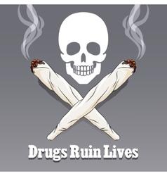Anti drug poster vector