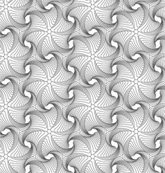 Gray wavy twisted rounded sea stars vector