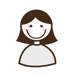 Happy woman isolated icon design vector