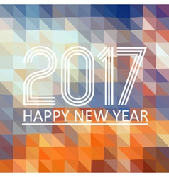 Happy new year 2017 on multicolor low polygon vector
