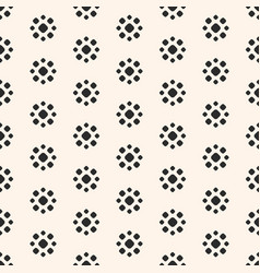 abstract dotted seamless pattern simple floral vector image