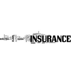 Auto insurance tips text word cloud concept vector