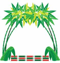 bamboo border vector image vector image