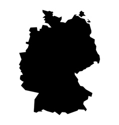 Black silhouette map of Germany vector image vector image