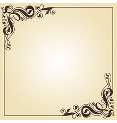 calligraphy ornament frame vector image vector image
