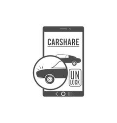 Car share logo design car sharing concept vector