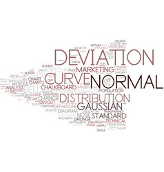 deviation word cloud concept vector image