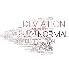 Deviation word cloud concept vector