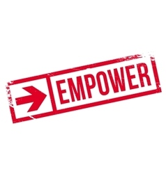 Empower stamp rubber vector