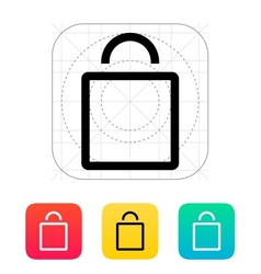 Empty bag icon vector image