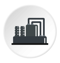 Equipment for production oil icon circle vector