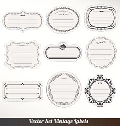 Frame labels Set ornamental vintage vector image vector image