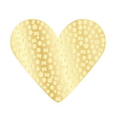 golden valentine vector image vector image