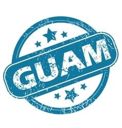 Guam round stamp vector